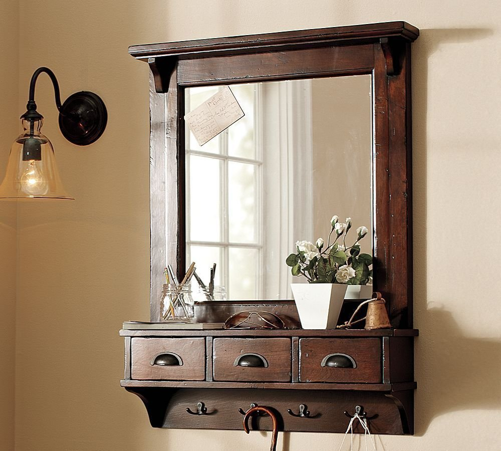 Entry Table Mirror Set | Entryway Mirror | Entryway Mirror Organizer
