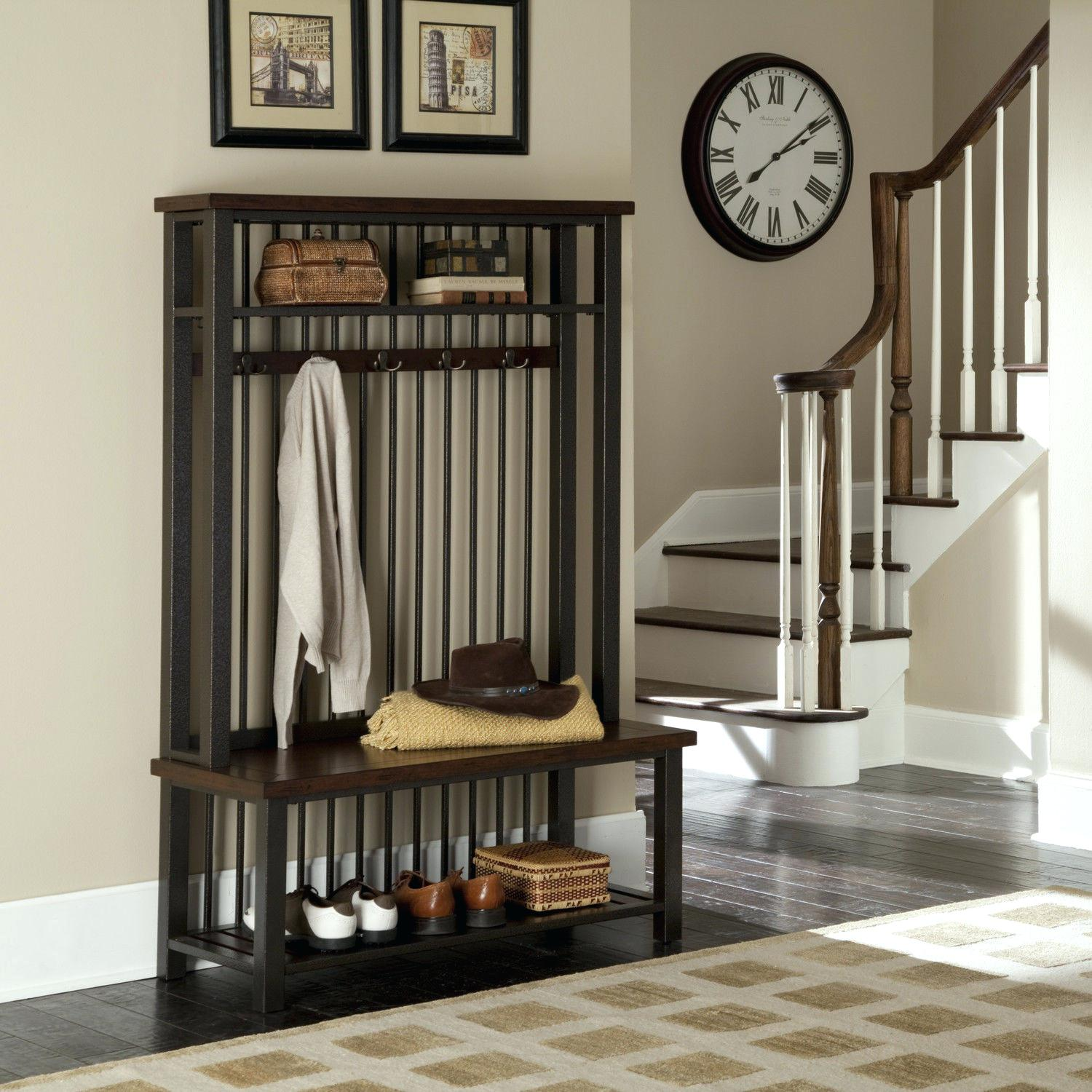 Entryway Coat Rack and Bench | Entryway Storage Bench with Coat Rack | Entryway Storage Bench with Coat Rack
