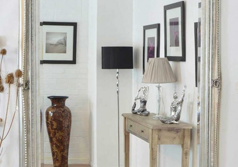 Entryway Mirror With Hooks And Shelf | Entry Chests Consoles | Entryway Mirror