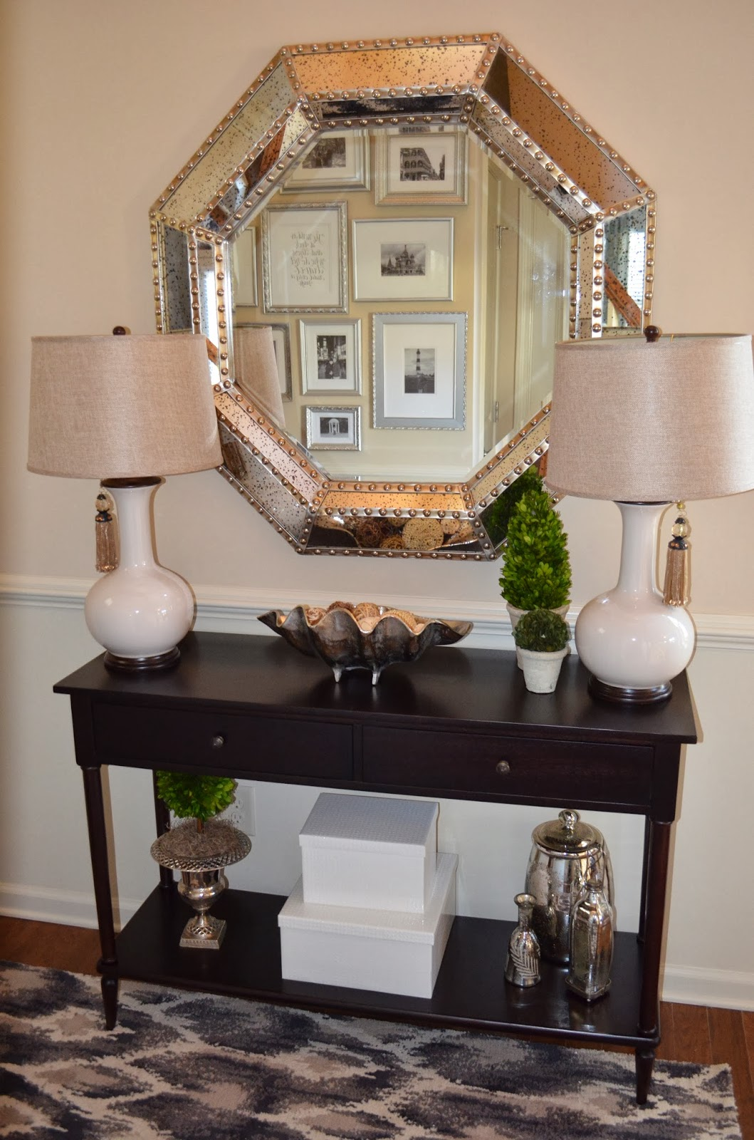 Entryway Mirror with Shelf | Entryway Mirror | Mirrors with Hooks for Entryways