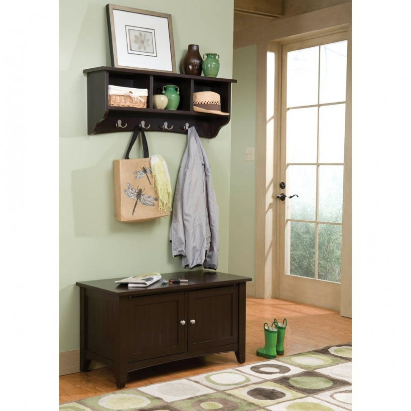 Entryway Storage Bench With Coat Rack | Coat And Shoe Rack With Bench | Bench And Coat Rack Entryway