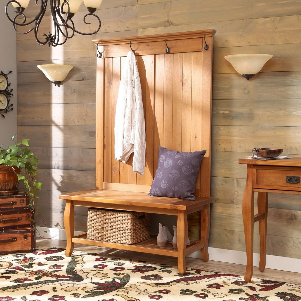 Entryway Storage Bench with Coat Rack | Coat Hanger with Storage Bench | Coat Racks with Bench