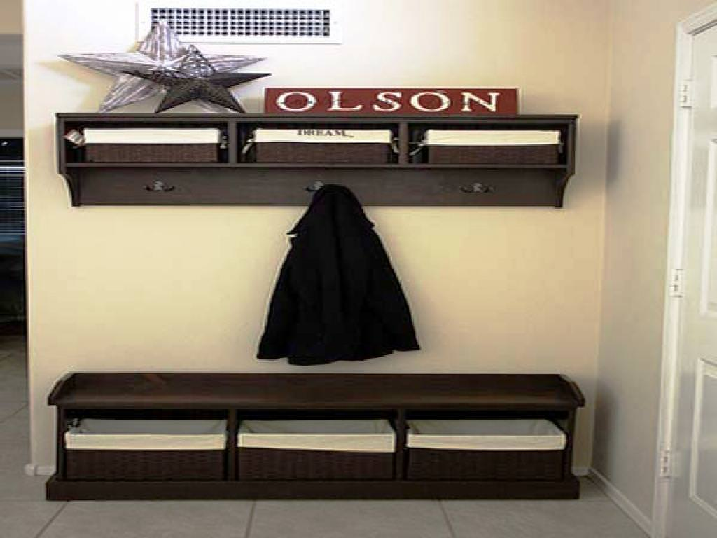 Storage: Entryway Storage Bench With Coat Rack For Inspiring Storage ...
