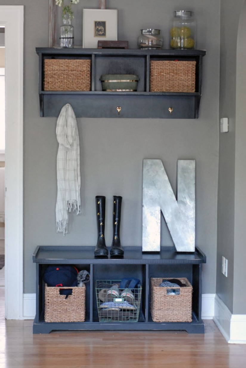 Entryway Storage Bench With Coat Rack | Entrance Bench With Coat Rack | Entryway Boot Storage