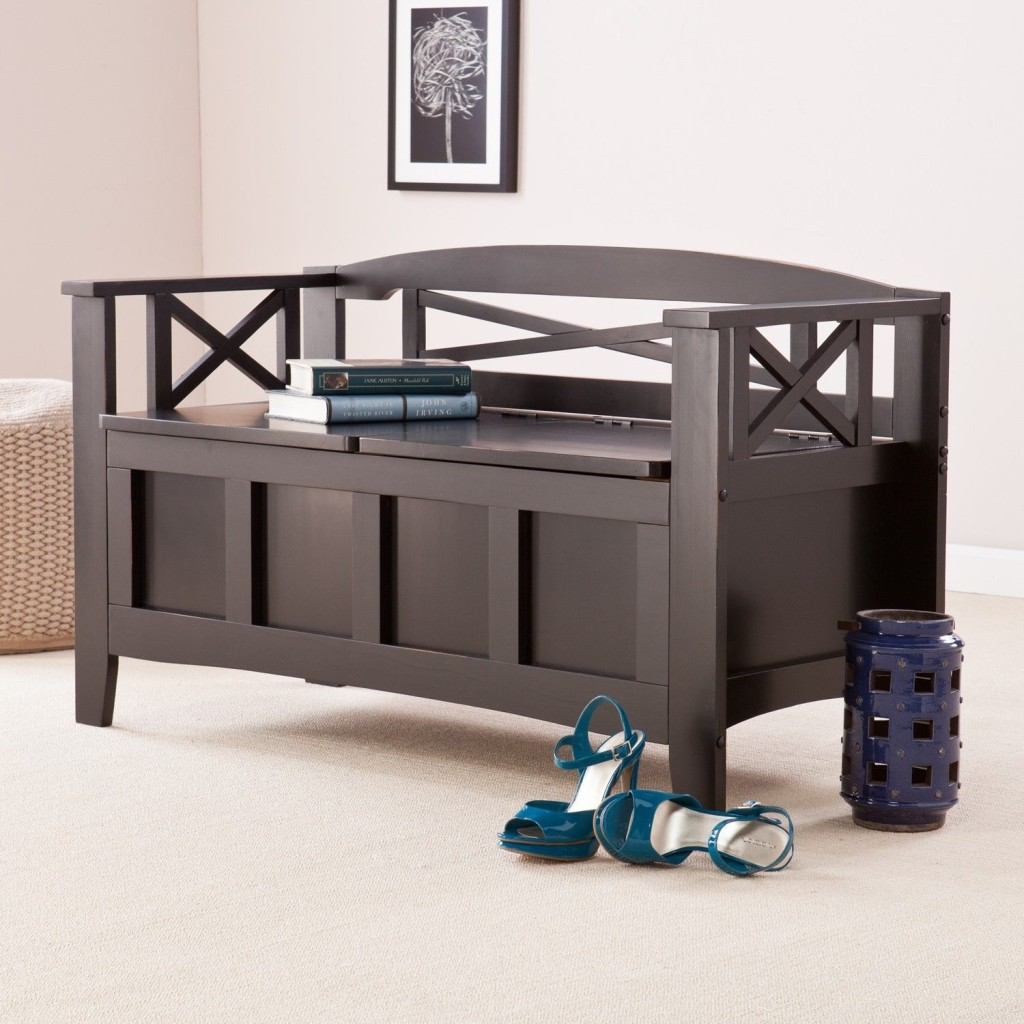 Entryway Storage Bench with Coat Rack | Entryway Coat Rack Bench | Hall Coat Rack Bench