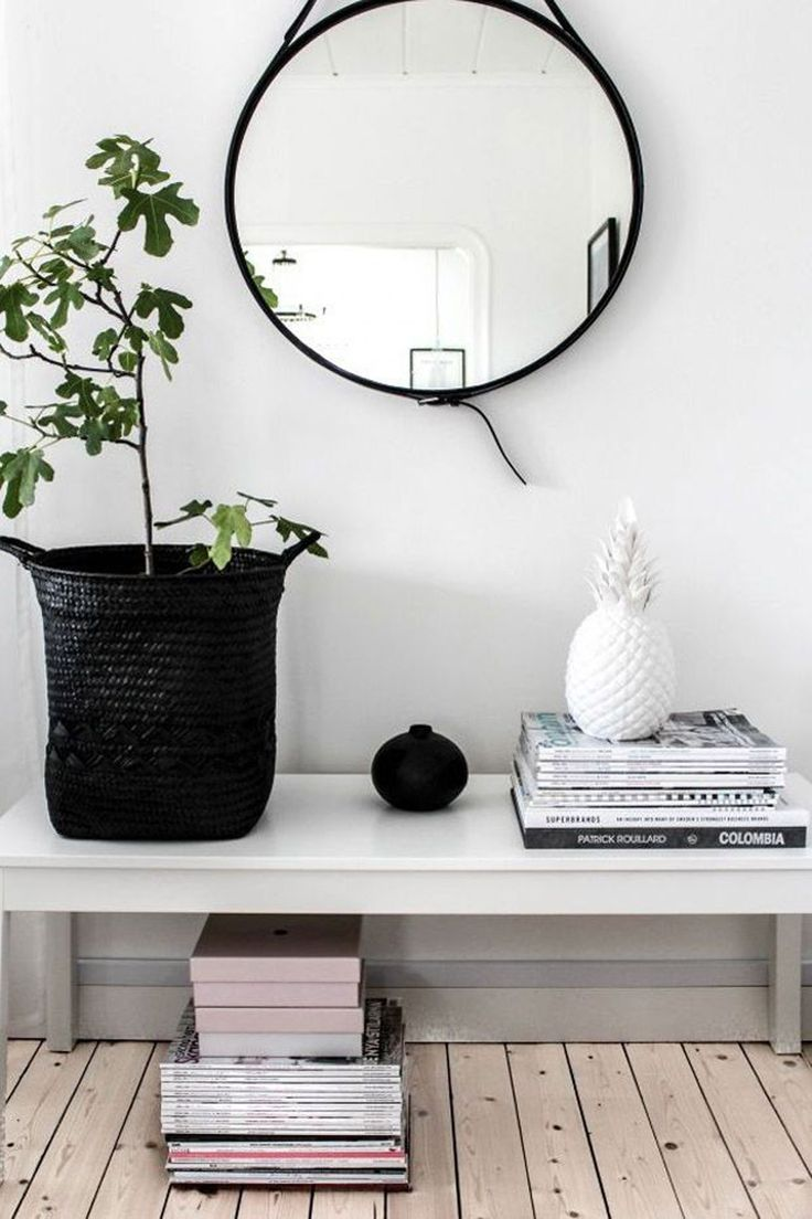 Entryway Wall Mirror | Foyer Mirror And Table Set | Entryway Mirror
