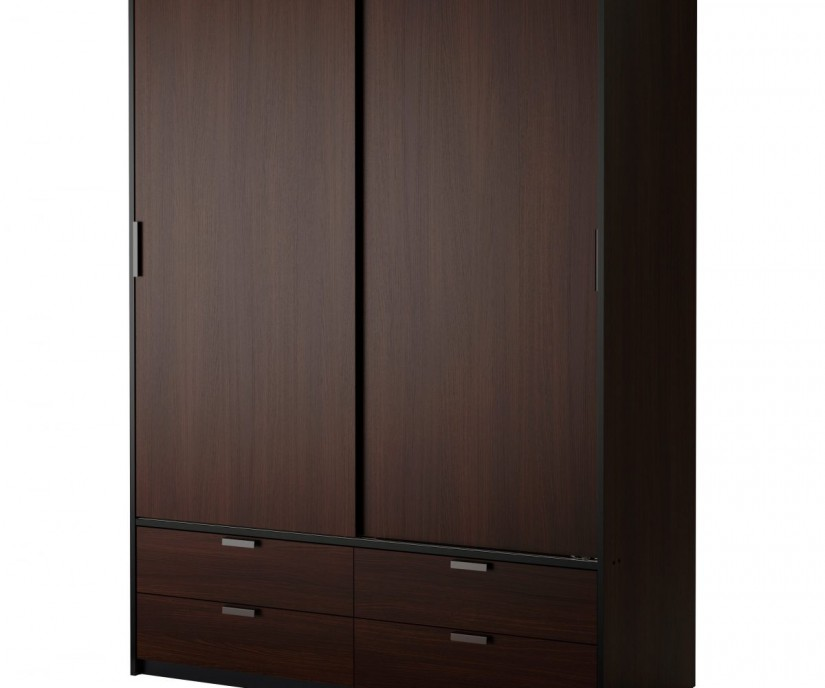 Espresso Wardrobe Armoire | Tall Thin Armoire | Cheap Wardrobe Closet