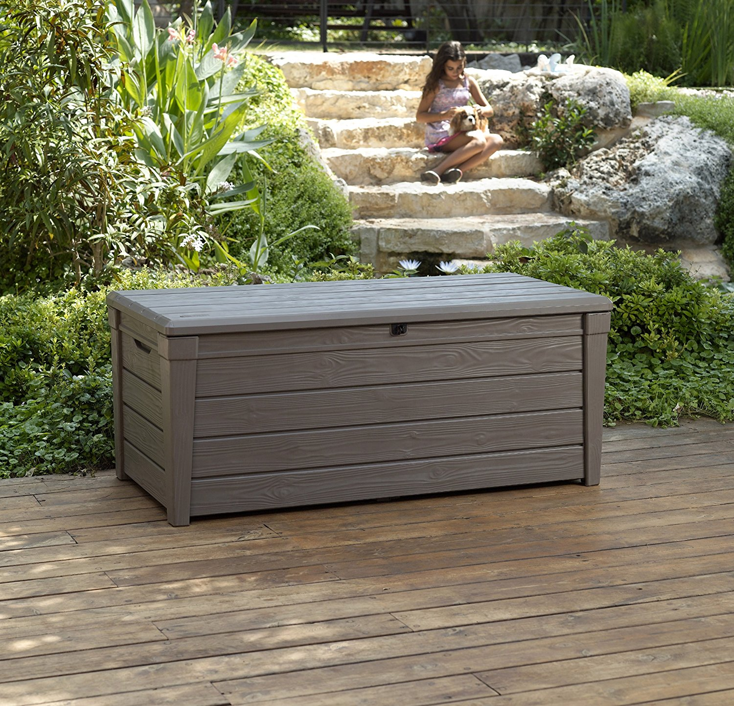 Extra Large Deck Box 150 Gallon | Rubbermaid Storage Bench | Suncast Small Deck Box