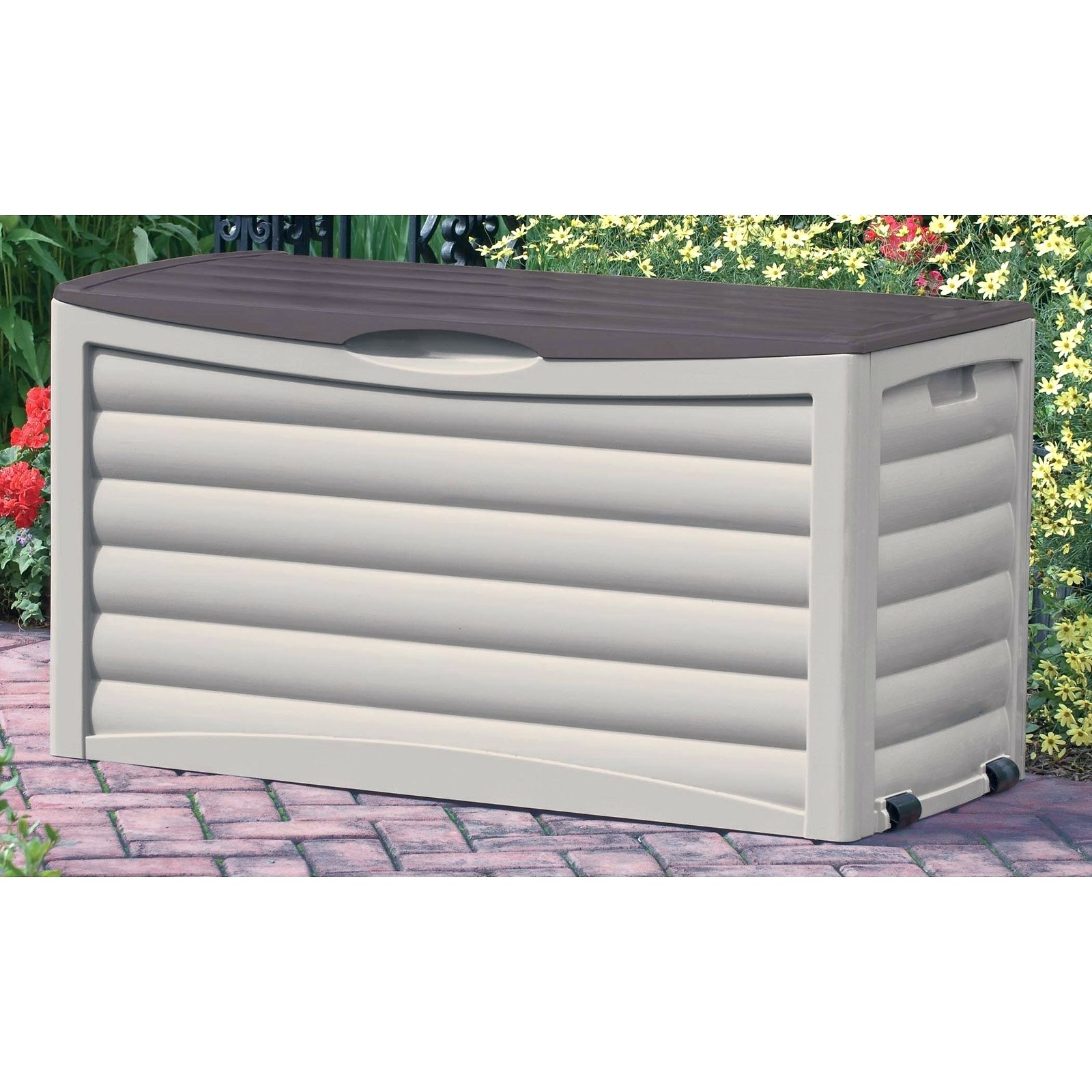 Extra Large Deck Box | Wooden Deck Box | Rubbermaid Storage Bench