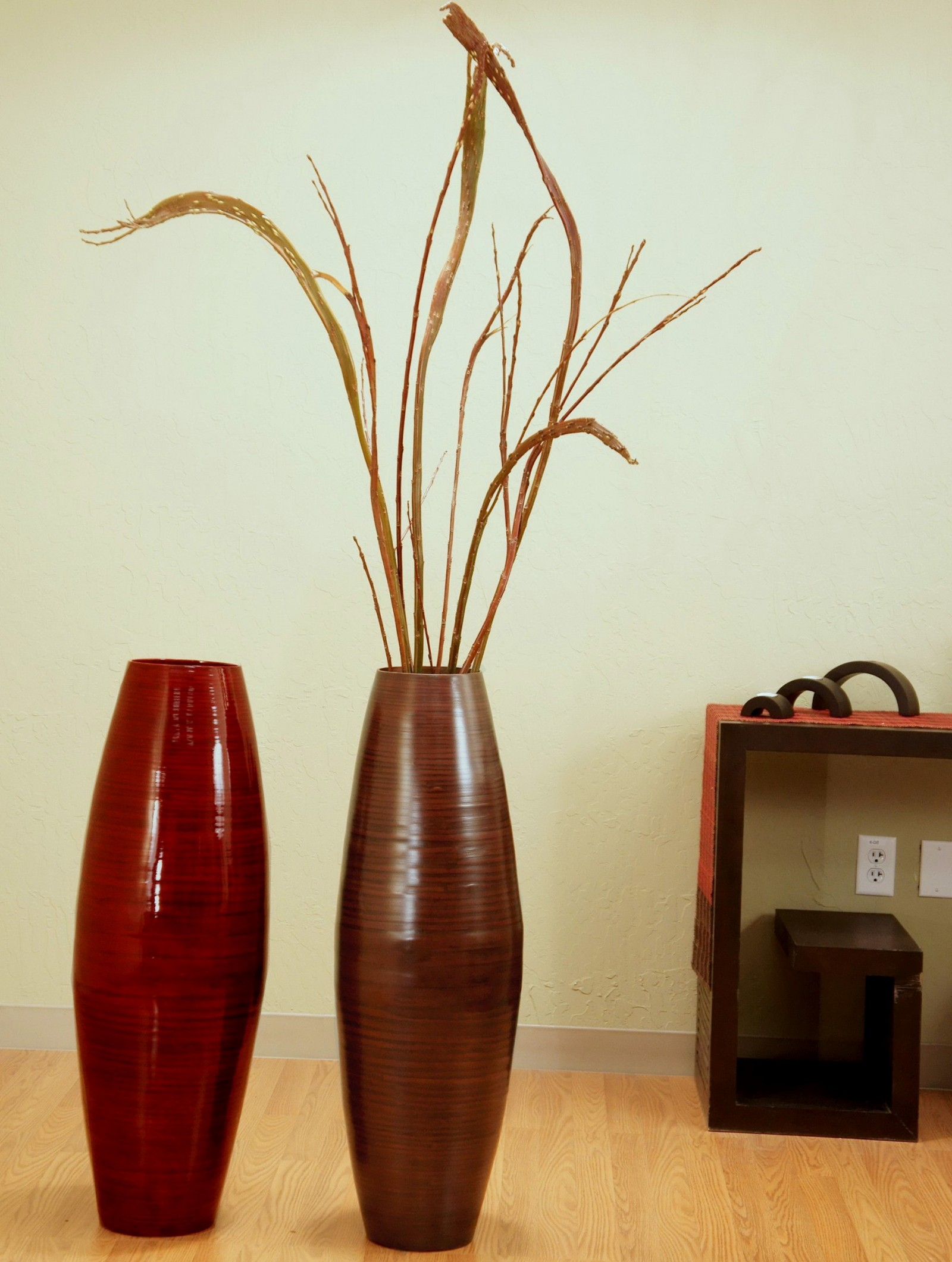 Charming Home Accessories Ideas with Extra Large Floor Vases: Extra Large Floor Vases | Tall Metal Floor Vase | Big Tall Floor Vases