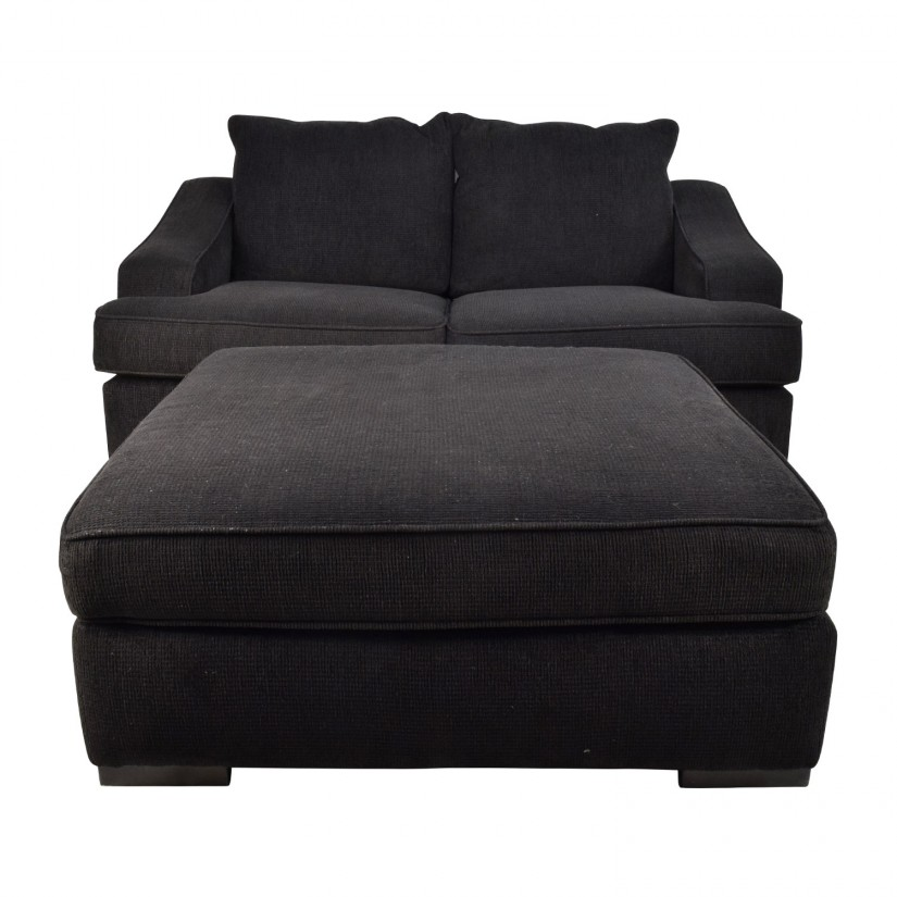 Extra Large Ottoman | Colored Leather Ottoman | 40 Inch Square Ottoman