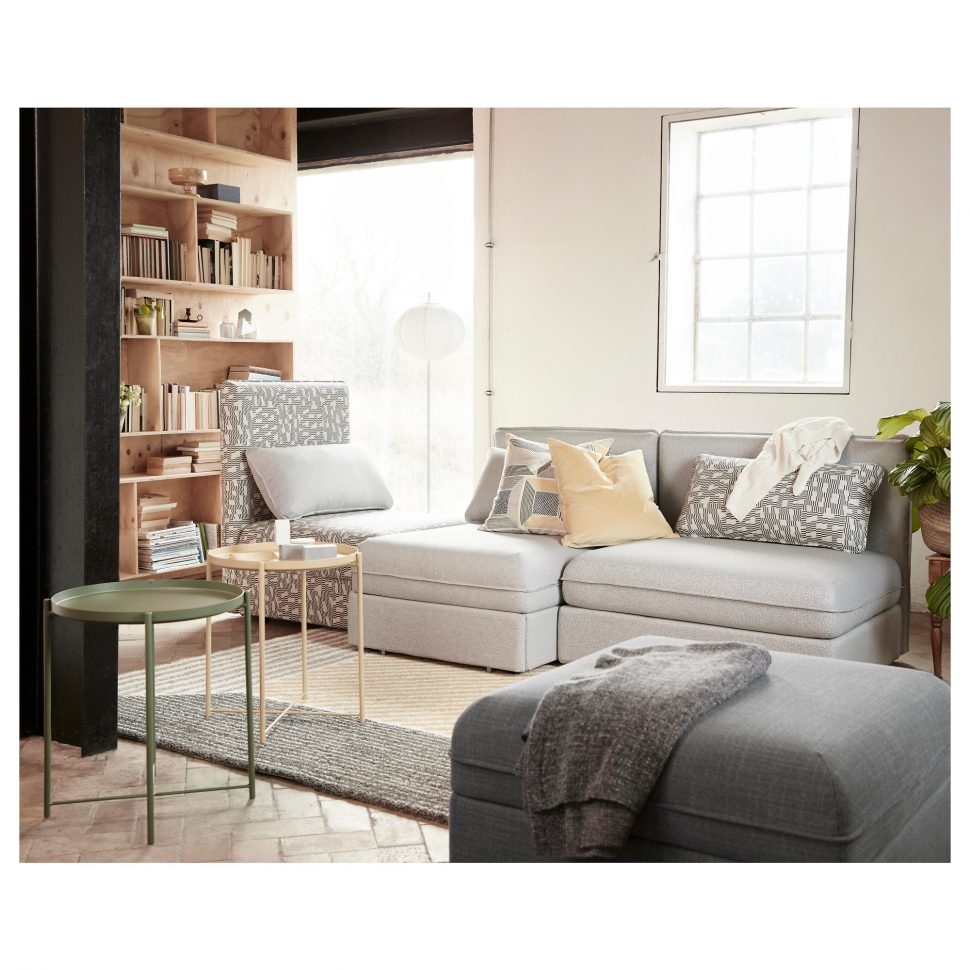 Extra Large Ottoman for Large Space Living Room Design: Extra Large Ottoman | Extra Large Square Ottoman | Light Grey Ottoman