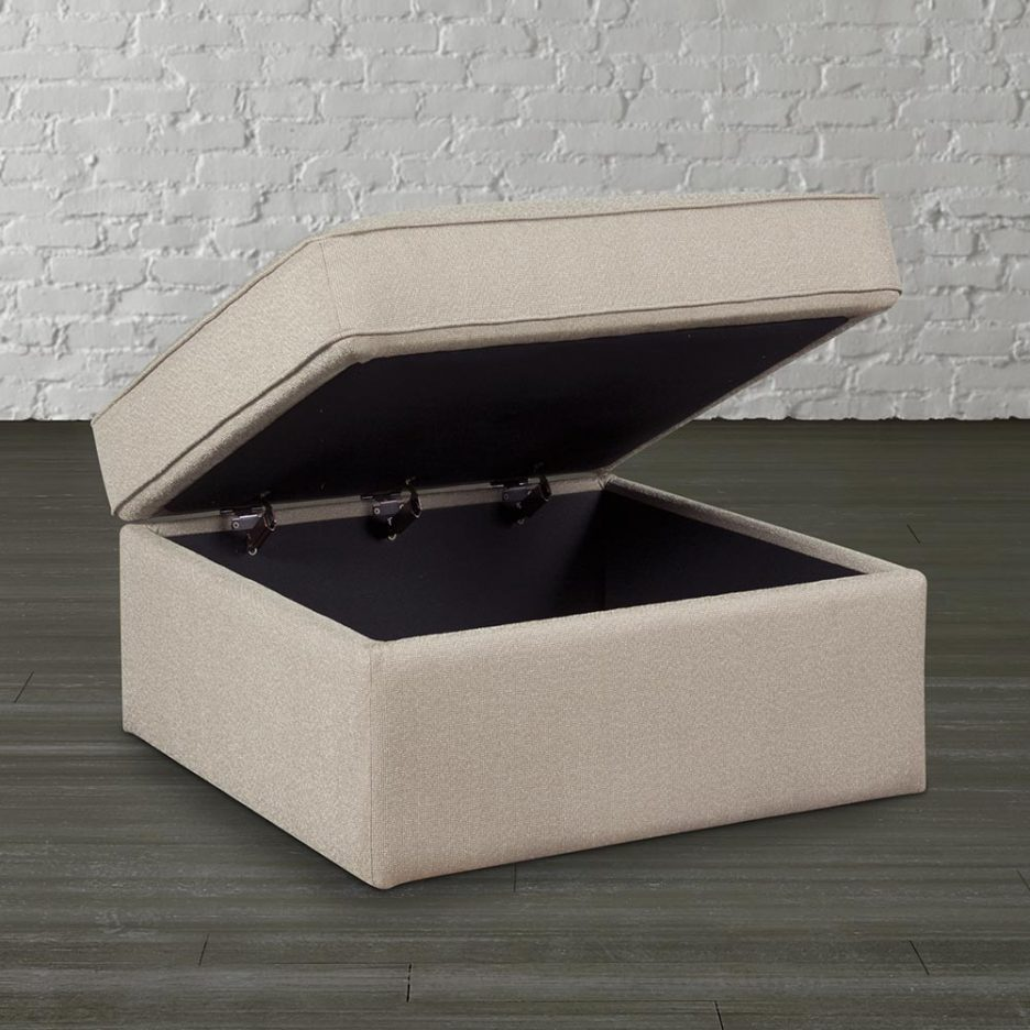Extra Large Ottoman | Large Cream Ottoman | Extra Large Ottoman Trays
