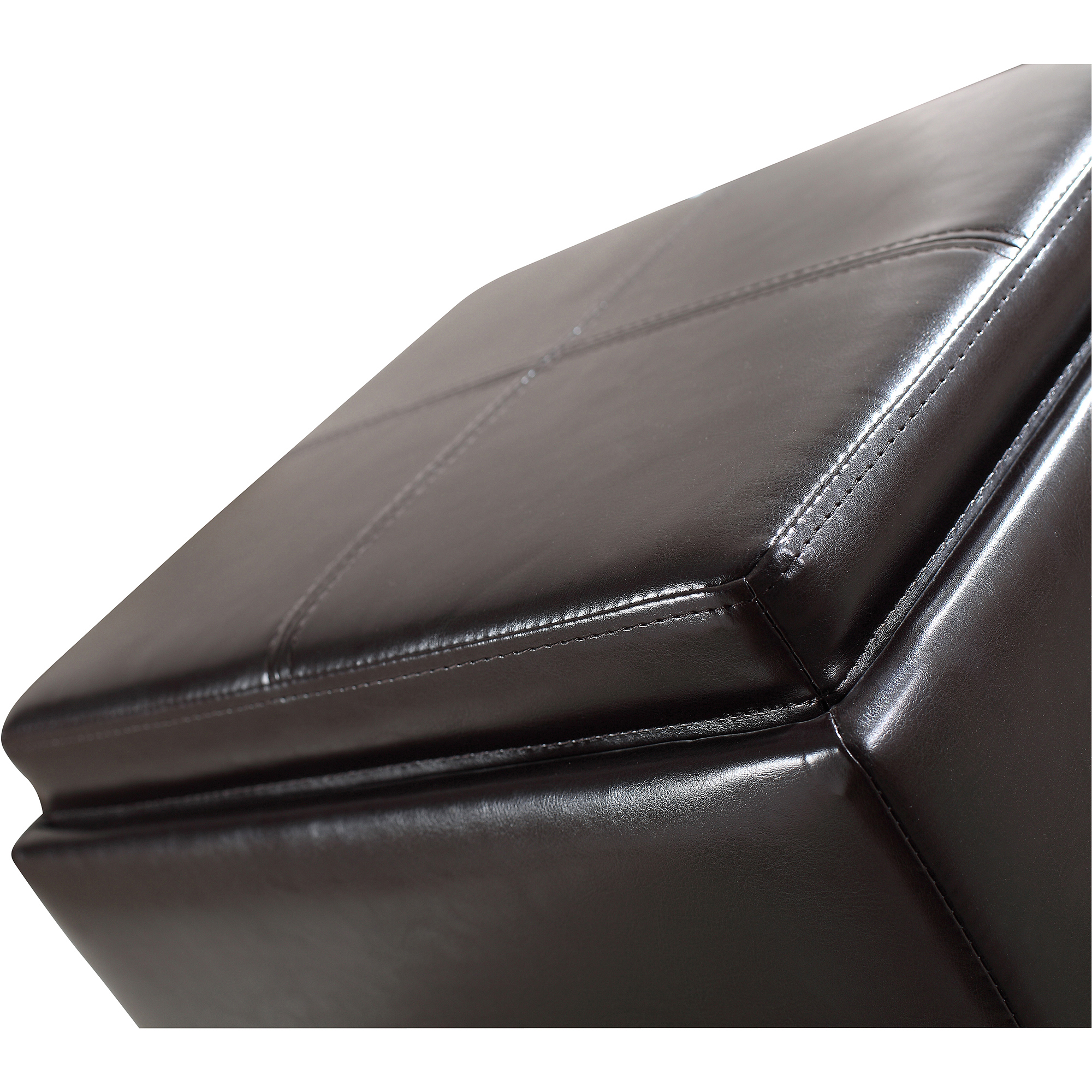 Extra Large Ottoman | Leather Rectangular Ottoman Coffee Table | Large Square Ottoman with Storage
