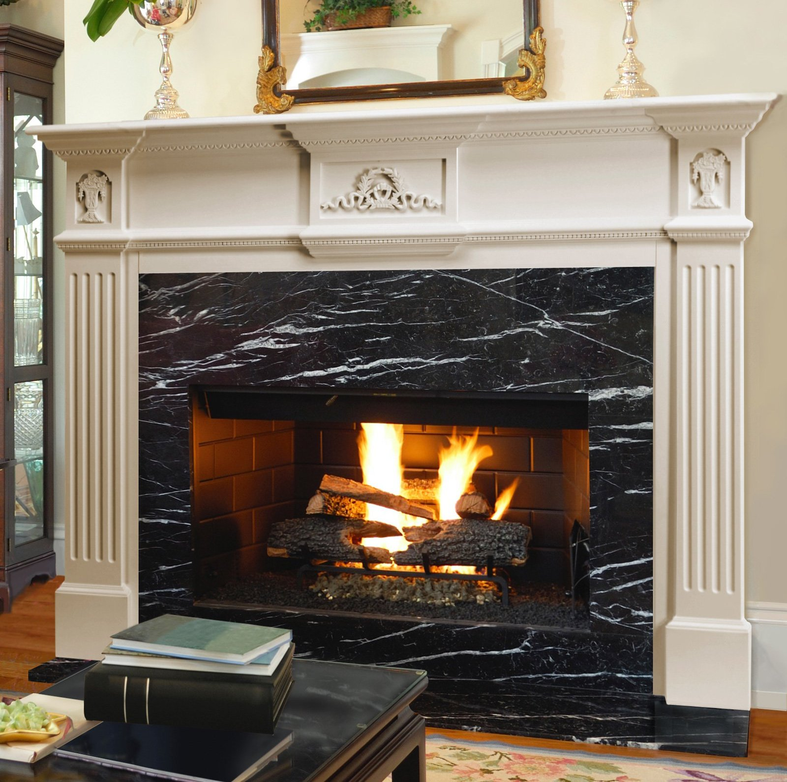 Fireplace Mantels Home Depot | Prefabricated Fireplace Mantels | Lowes Fireplace Mantel
