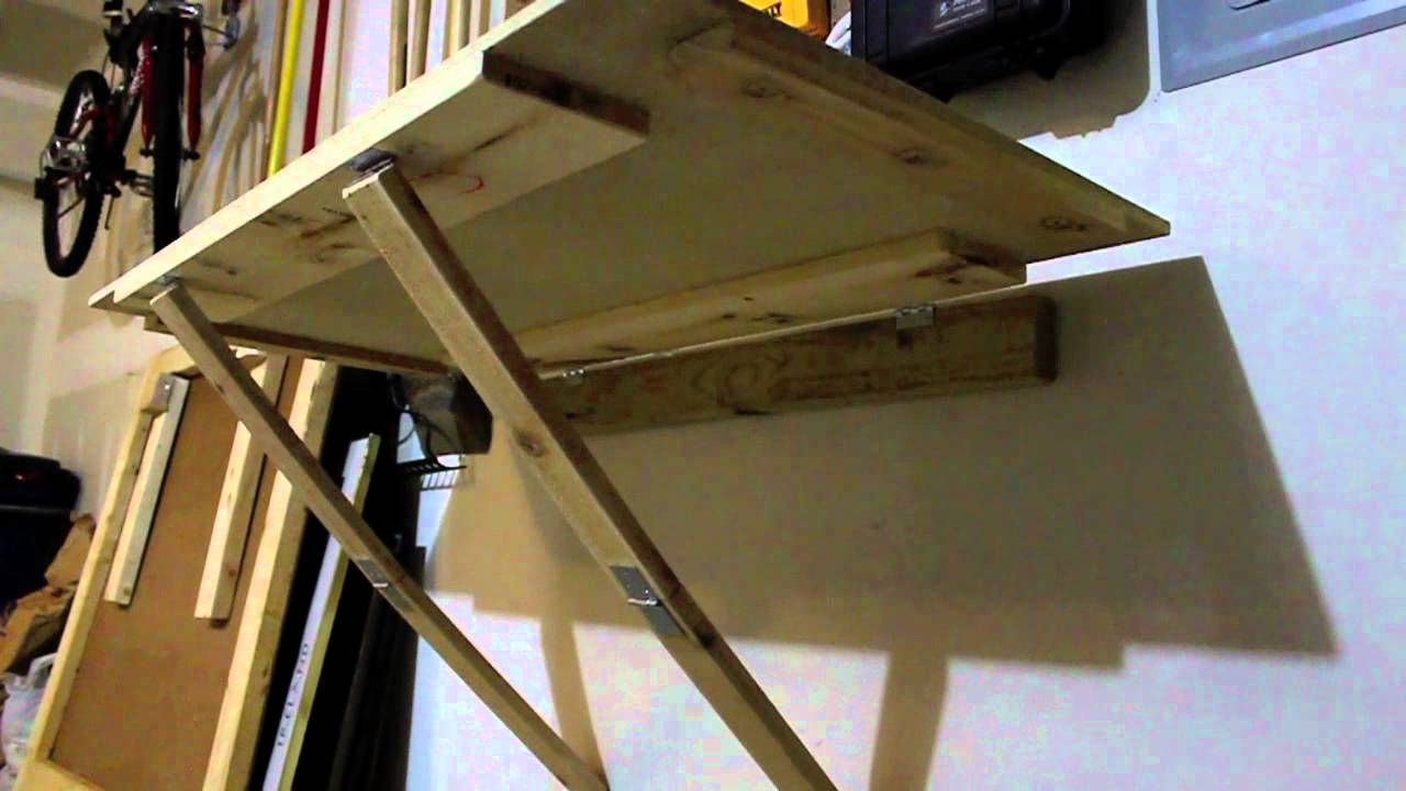 Fold Away Workbench | Wall Mounted Folding Workbench | Fold Down Workbench