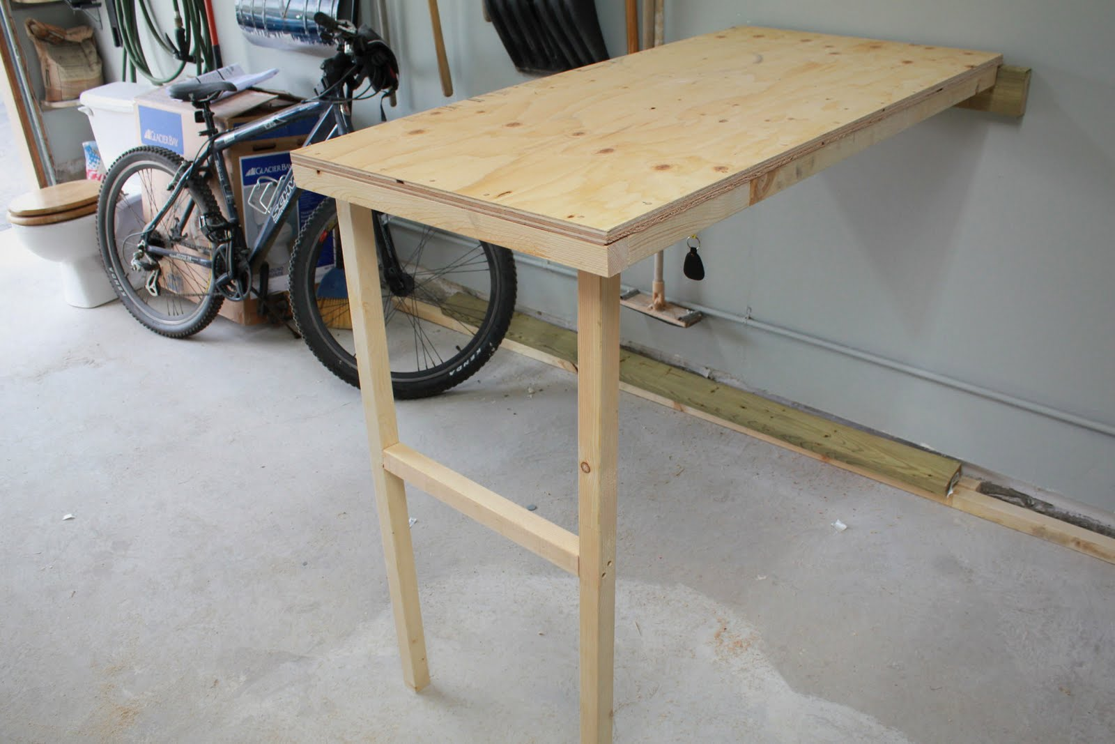 Fold Flat Workbench | Wall Mounted Folding Workbench | Folding Garage Workbench