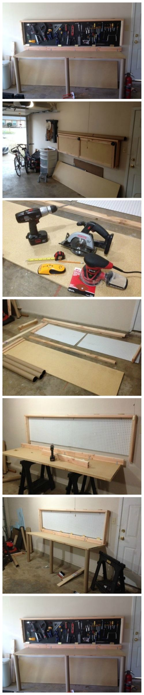 Foldaway Workbench | Wall Mounted Folding Workbench | Wall Mounted Folding Work Bench