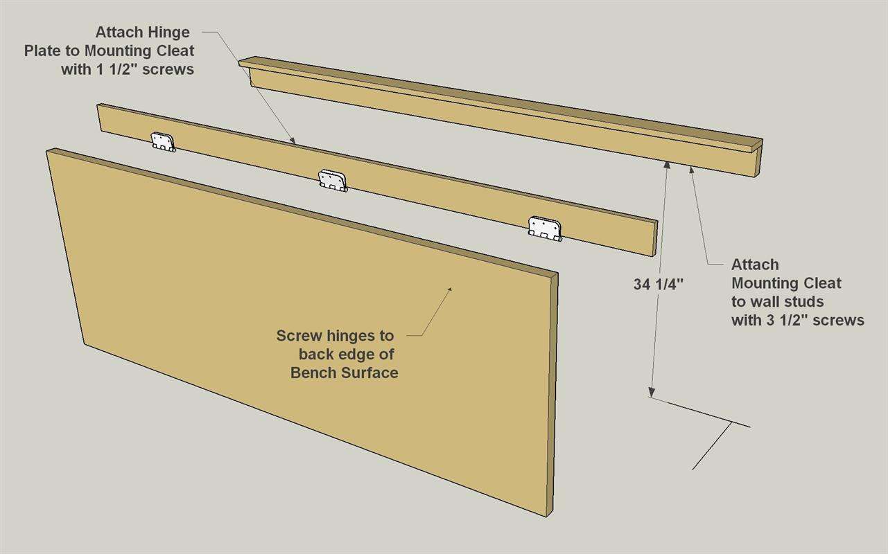 Folding Legs for Workbench | Wall Mounted Folding Workbench | Wall Mounted Folding Workbench