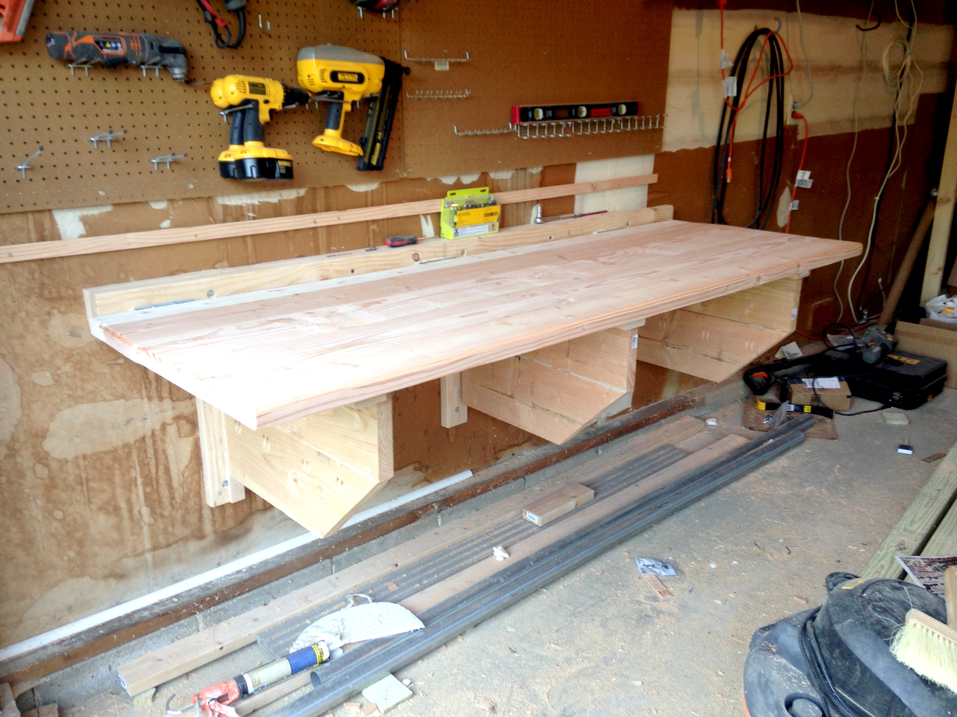 Folding Workbench Wall Mounted | Folding Legs for Workbench | Wall Mounted Folding Workbench
