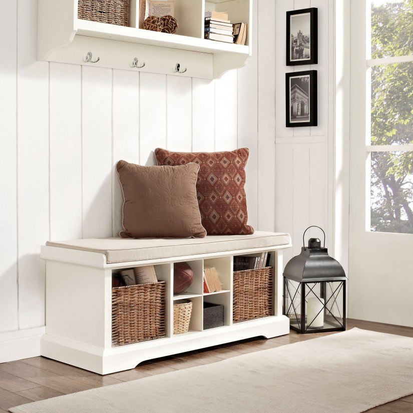 Foyer Bench And Coat Rack | Entryway Storage Bench With Coat Rack | Entryway Coat Rack With Bench