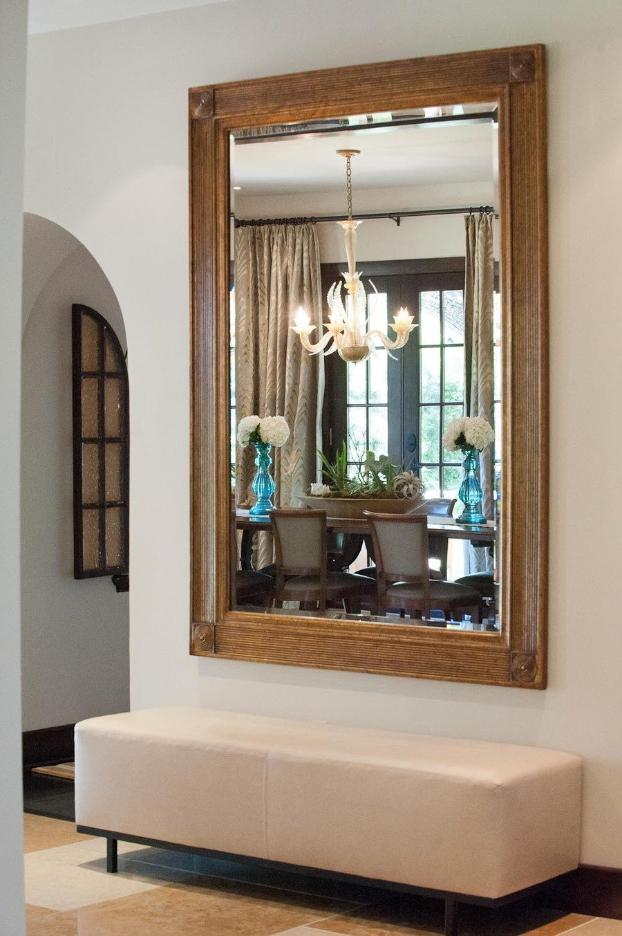 Interesting Entry Room Decor Ideas with Entryway Mirror: Foyer Tables Round | Entryway Wall Cabinet | Entryway Mirror