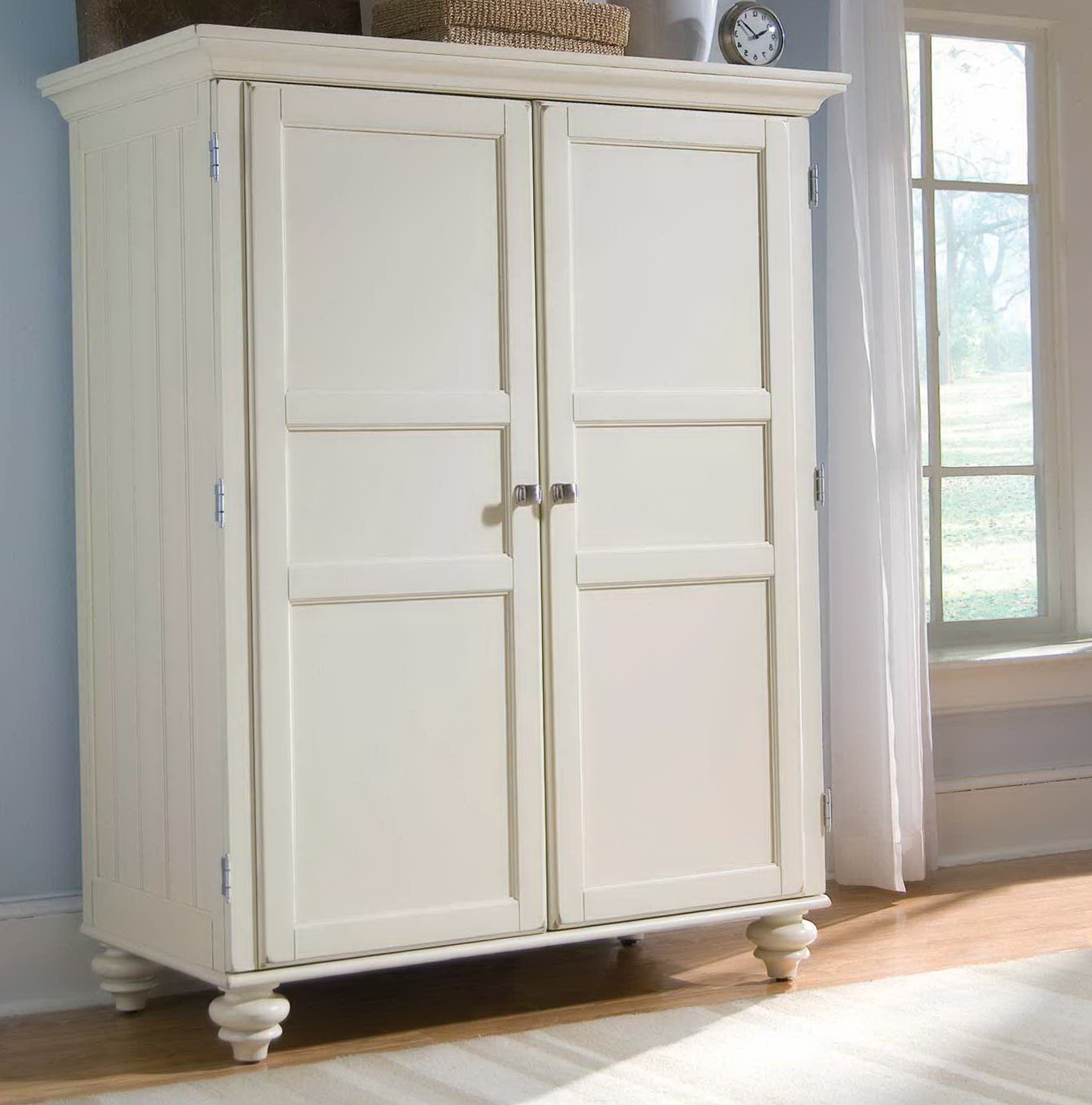 Free Standing Armoire | Cheap Wardrobe Closet | Clothing Armoire with Drawers