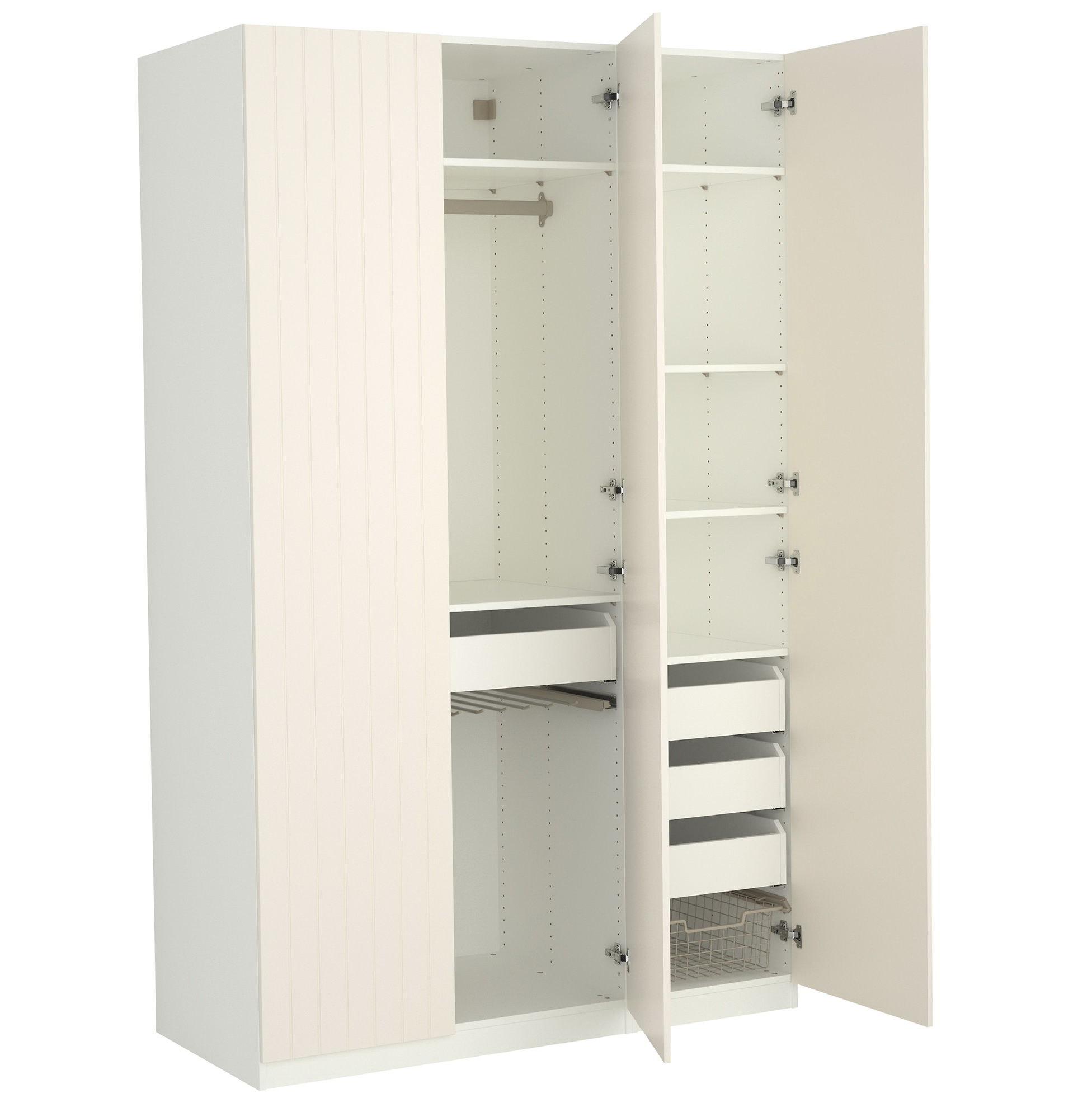 Free Standing Closet Wardrobe | Extra Wide Armoire | Free Standing Wardrobe Closet