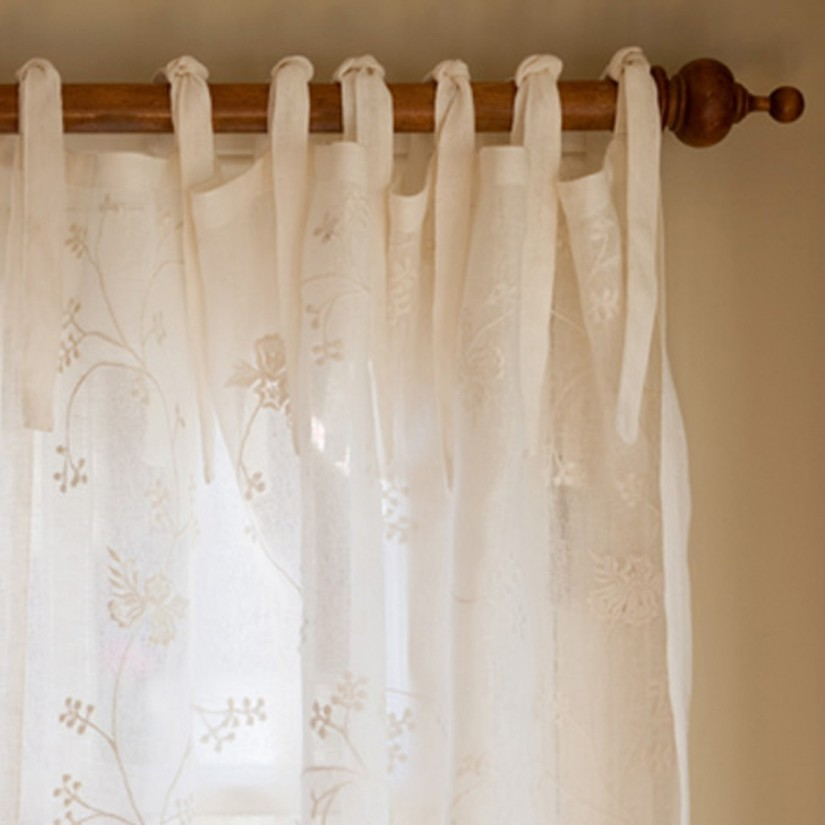 French Panel Curtains | Embroidered Curtains | French Stripe Curtains