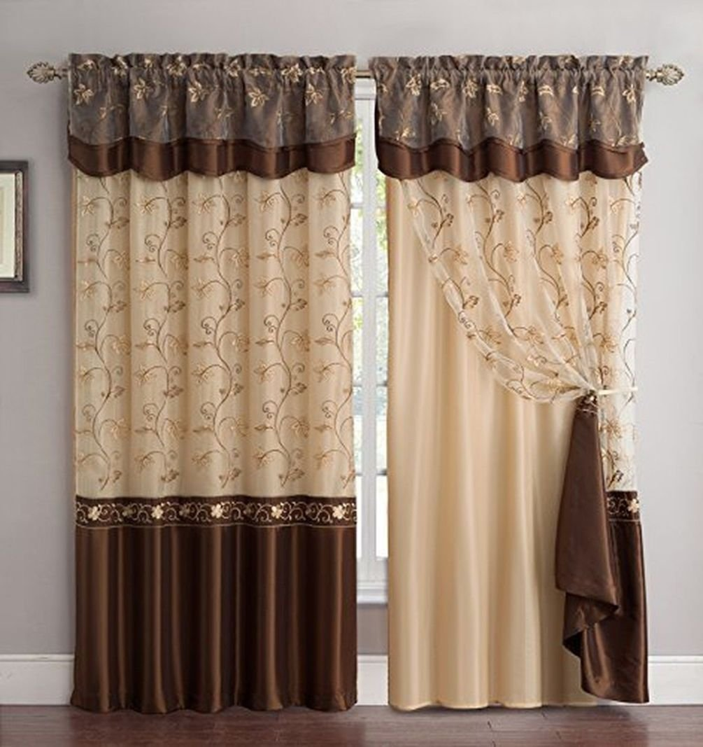 Fringed Curtains | Crewel Fabric for Sale | Embroidered Curtains