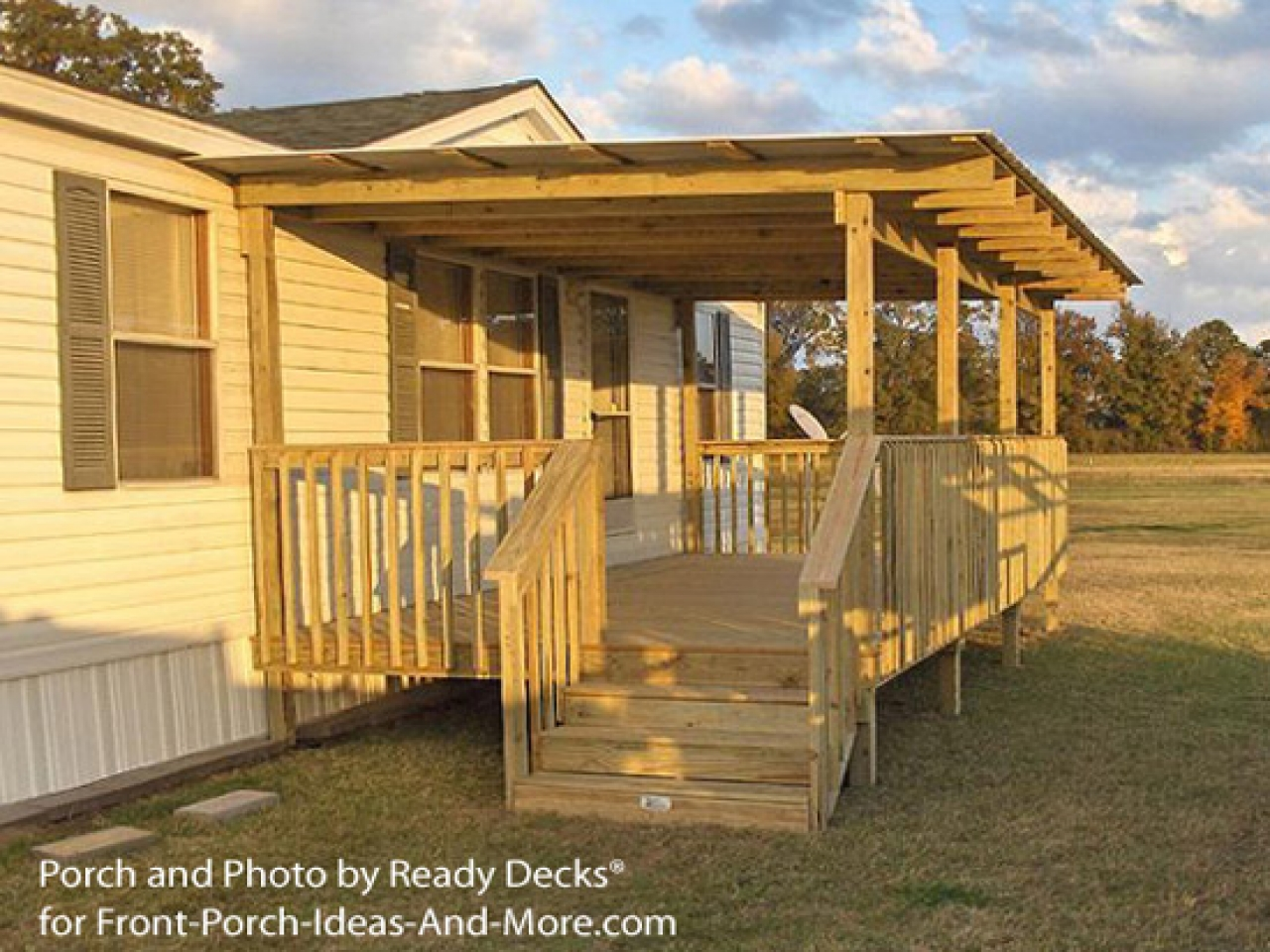 Front Porch Designs for Ranch Homes | Mobile Home Porches | How to Build A Porch on A Mobile Home