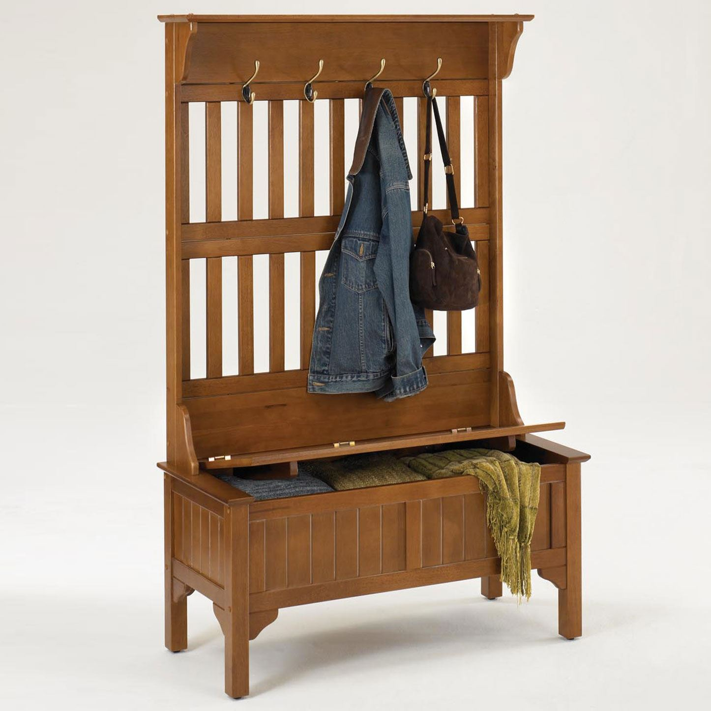 Hallway Storage Bench with Coat Rack | Entryway Storage Bench with Coat Rack | Entryway Storage Bench with Coat Rack