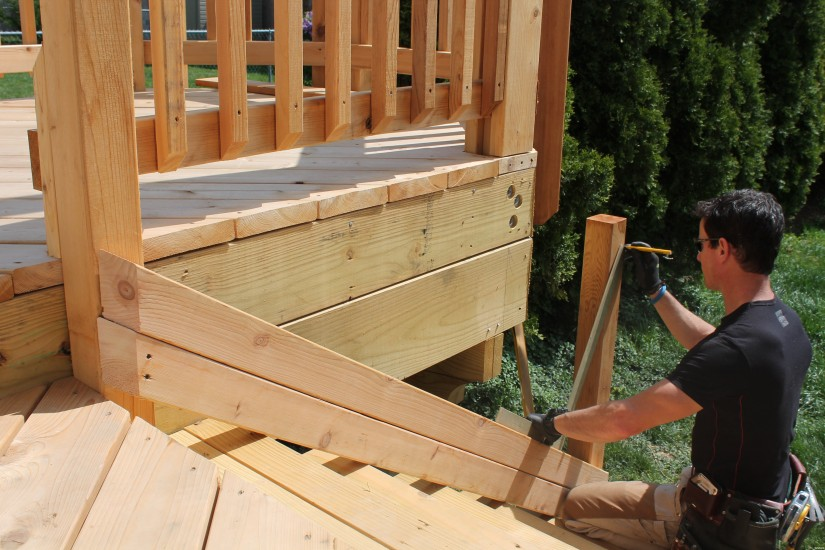 Handrails For Deck Stairs | Deck Stair Treads | Build Deck Stairs