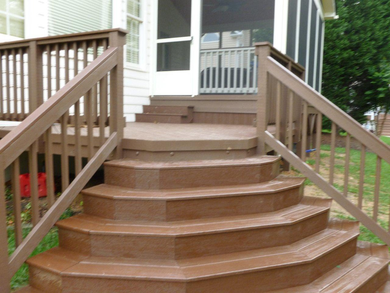 Handrails for Deck Stairs | Stair Stringer Size | Build Deck Stairs
