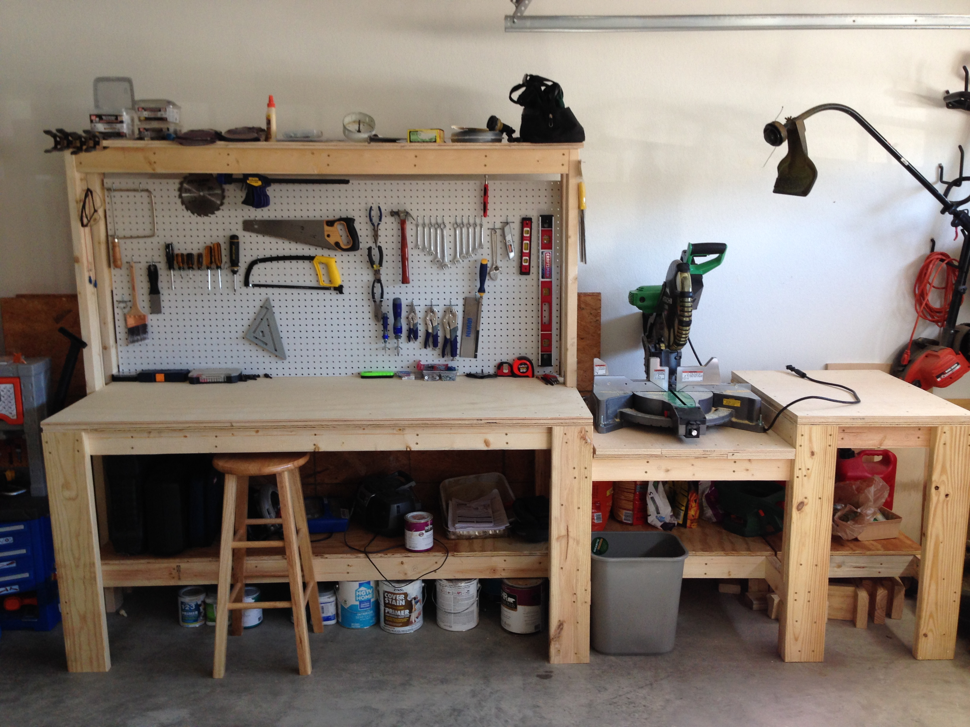 Wall Mounted Folding Workbench for Exciting Workspace Furniture Ideas: Hinged Workbench | Wall Mounted Folding Workbench | Space Saving Workbench