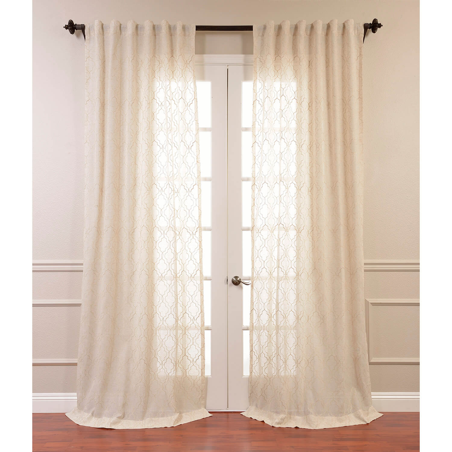 Home Outfitters Window Coverings | Embroidered Curtains | Floral Embroidered Curtains