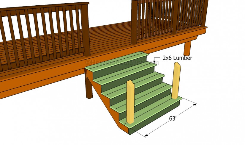 How To Build Deck Stairs With Pre Made Stringers | Build Deck Stairs | How To Build Deck Stairs And Railing
