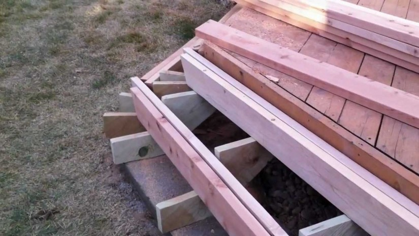 How To Build Deck Steps Without Stringers   Build Deck Stairs   Deck Stair Rails