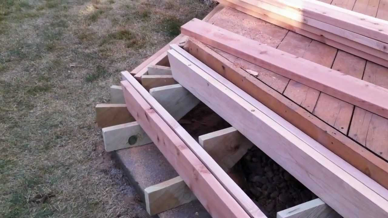 How to Build Deck Steps Without Stringers | Build Deck Stairs | Deck Stair Rails