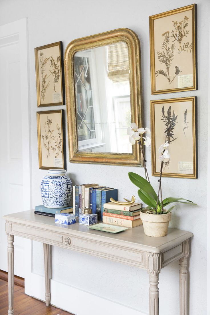 How to Decorate A Credenza | Entryway Mirror | Entry Chests