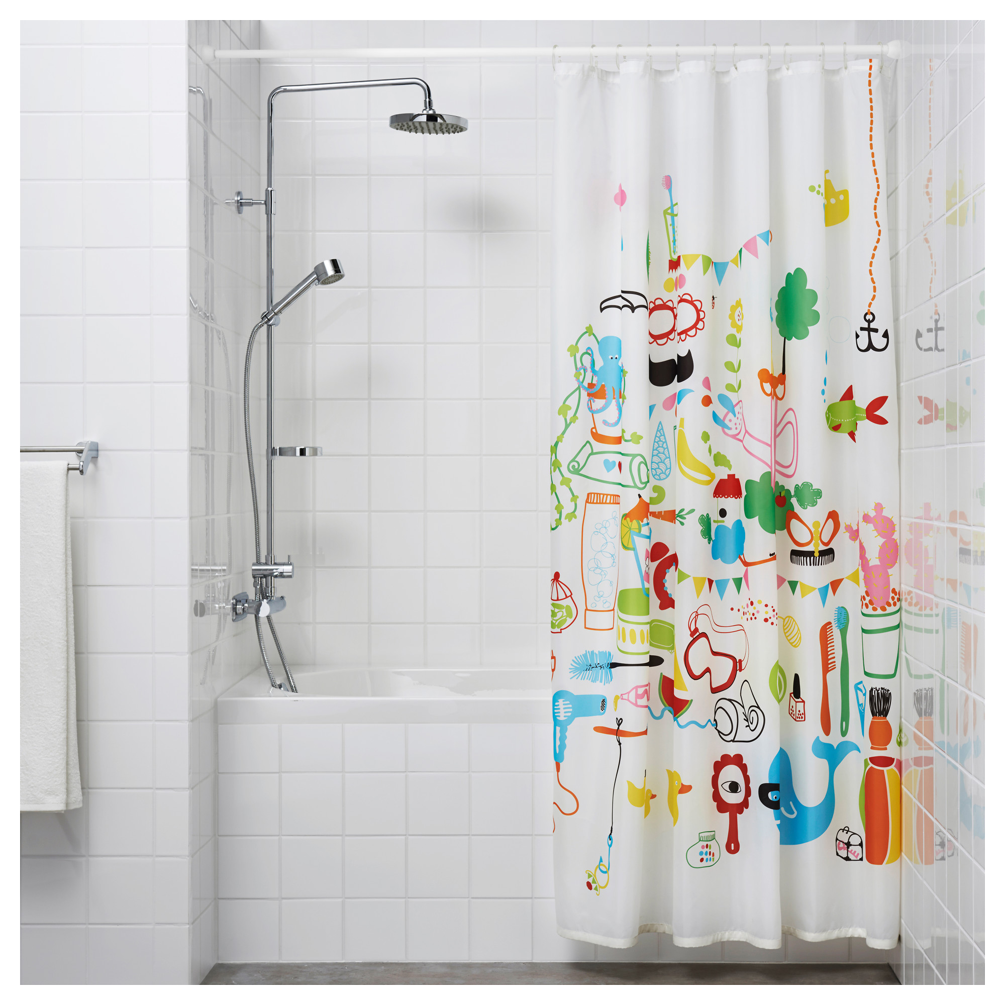 Ikea Shower Curtain | Neon Shower Curtain | Cheap Shower Curtains