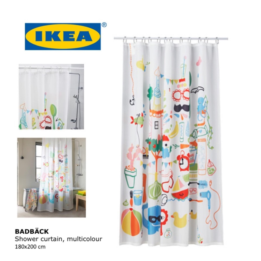 Ikea Shower Curtain | Octopus Shower Curtain Ikea | Blue and Green Shower Curtain