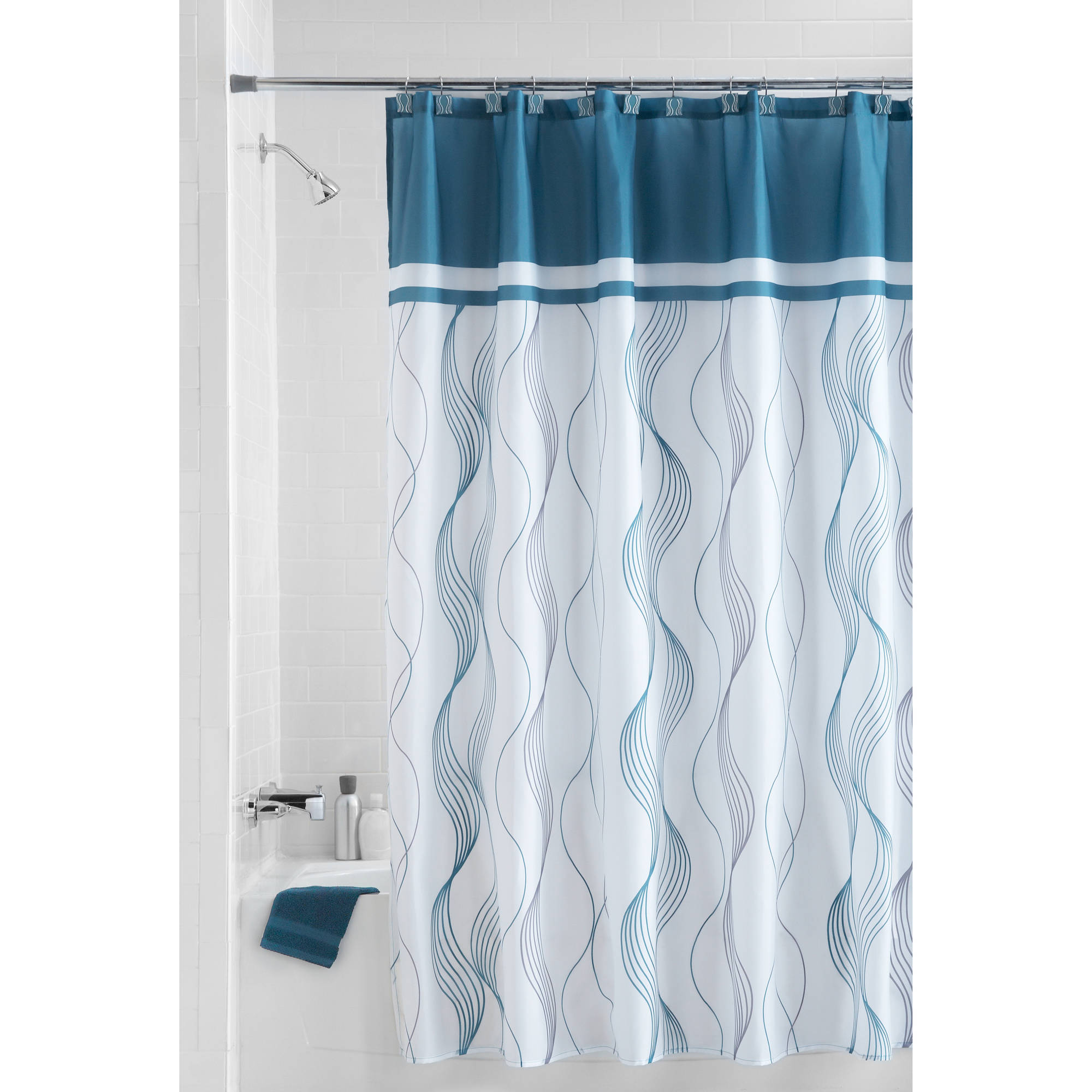 Ikea Shower Curtain | Single Stall Shower Curtain | Ikea Tension Rod