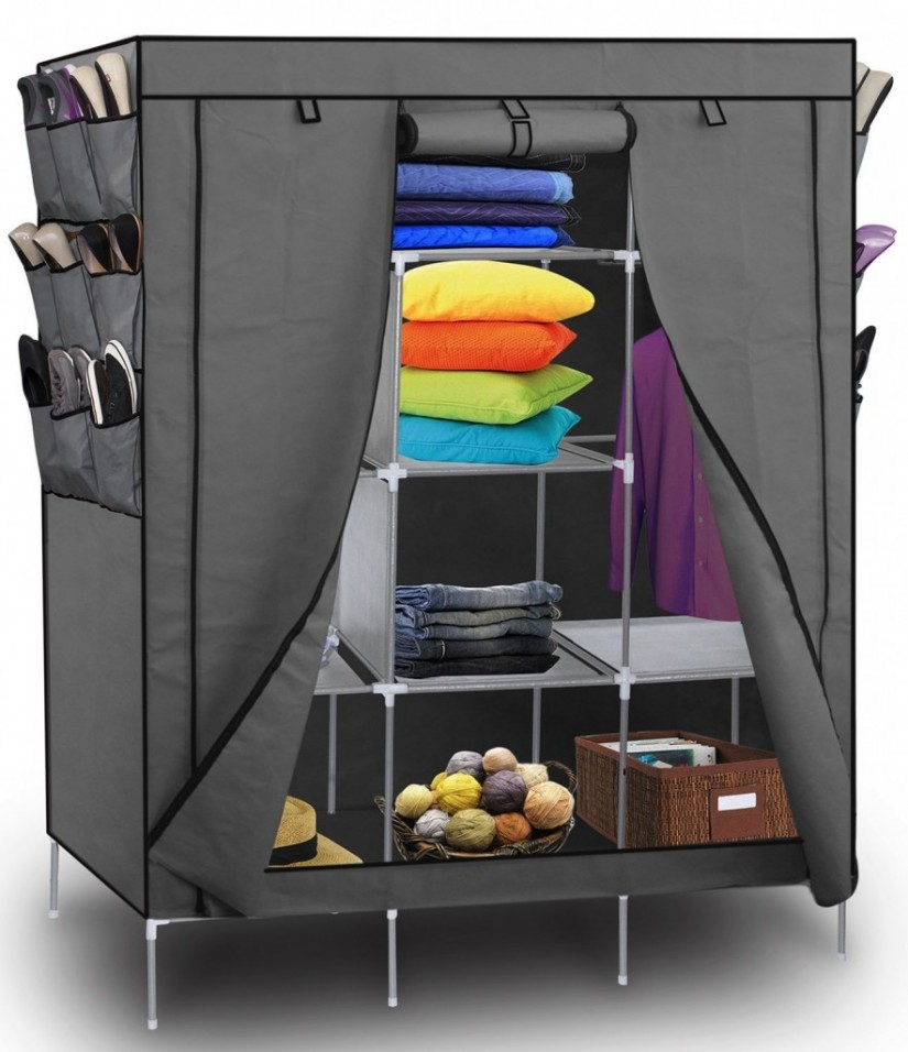 Inexpensive Wardrobes | Cheap Wardrobe Closet | Armoire With Hanging Rod