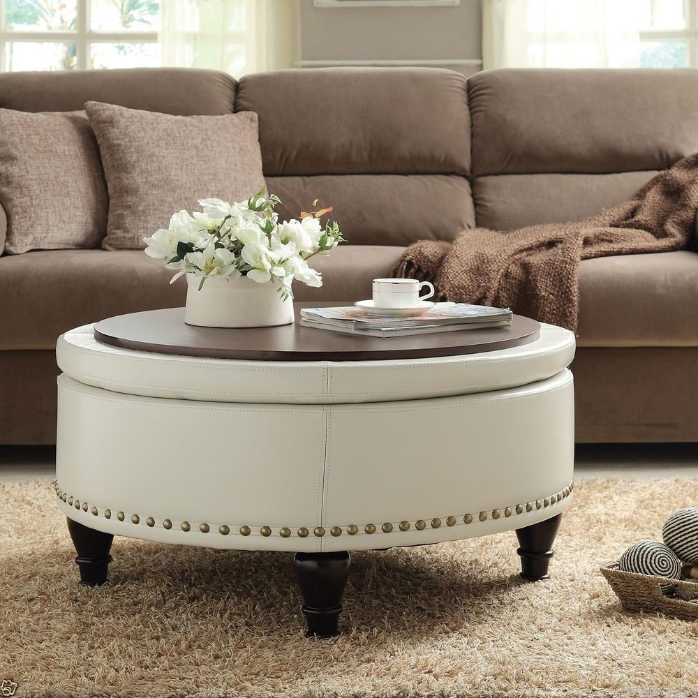Extra Large Ottoman for Large Space Living Room Design: Large Ottoman Coffee Tables | Extra Large Ottoman | Leather Ottomans Coffee Tables
