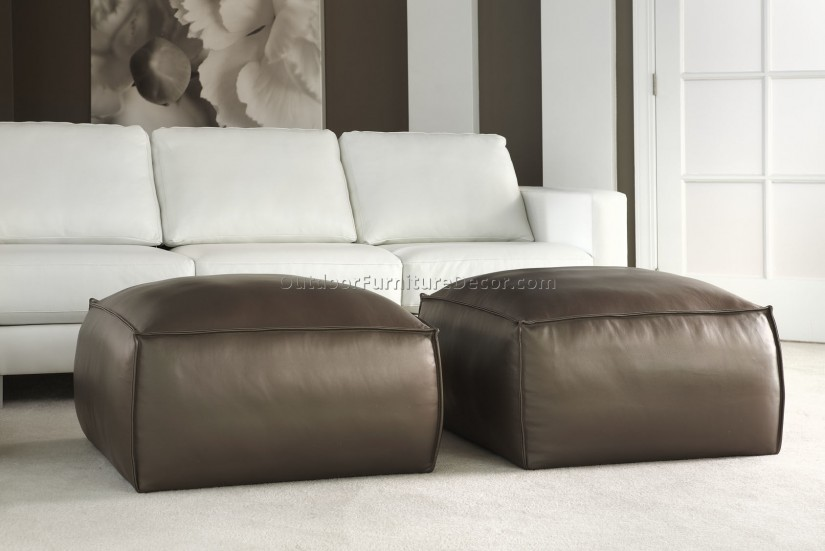 Large Round Coffee Table Ottoman | Storage Ottoman Cocktail Table | Extra Large Ottoman