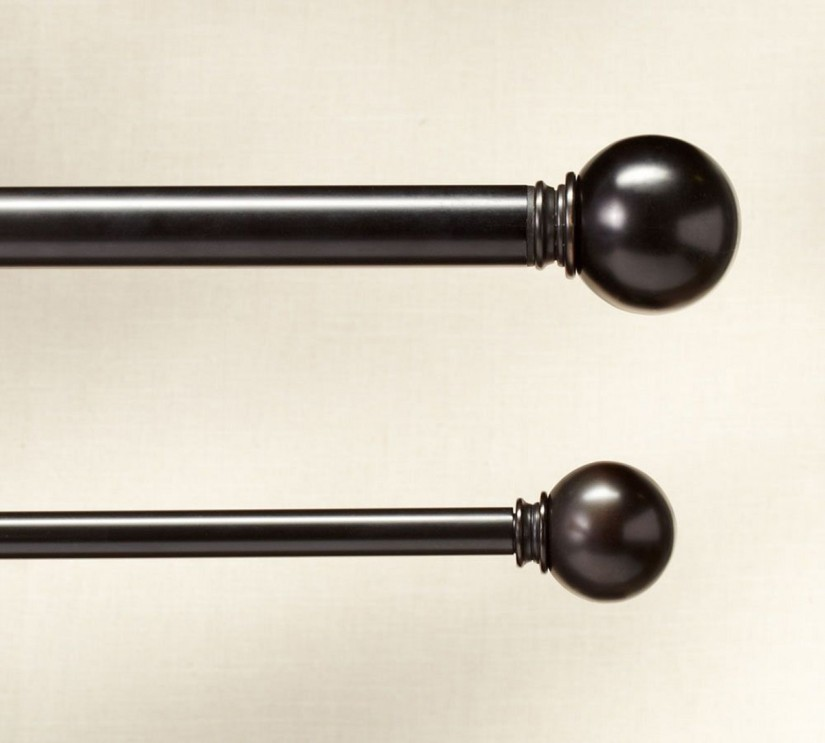 Leaf Curtain Rods | Bronze Curtain Rods | Oil Rubbed Bronze Drapery Rods