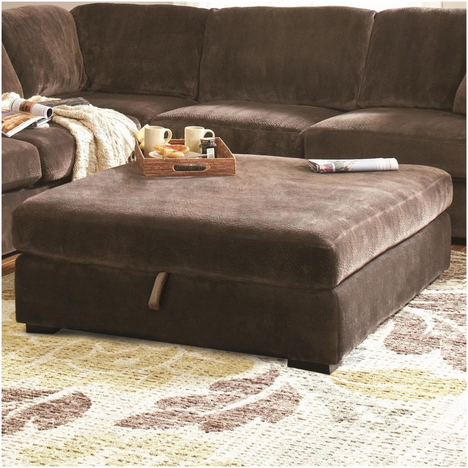 Extra Large Ottoman for Large Space Living Room Design: Leather Ottoman Coffee Tables | Extra Large Ottoman Slipcover | Extra Large Ottoman