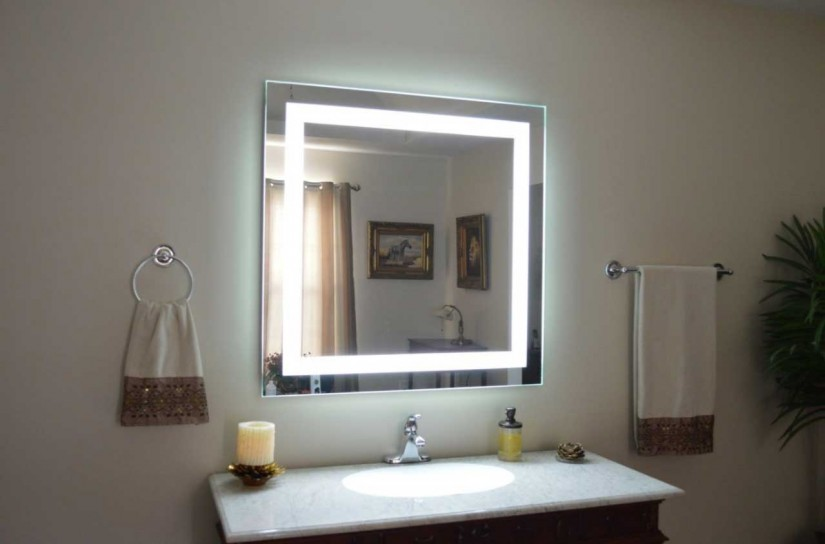 Lighted Bathroom Mirror Wall Mount | Lighted Wall Mirror | Wall Vanity Mirror With Lights
