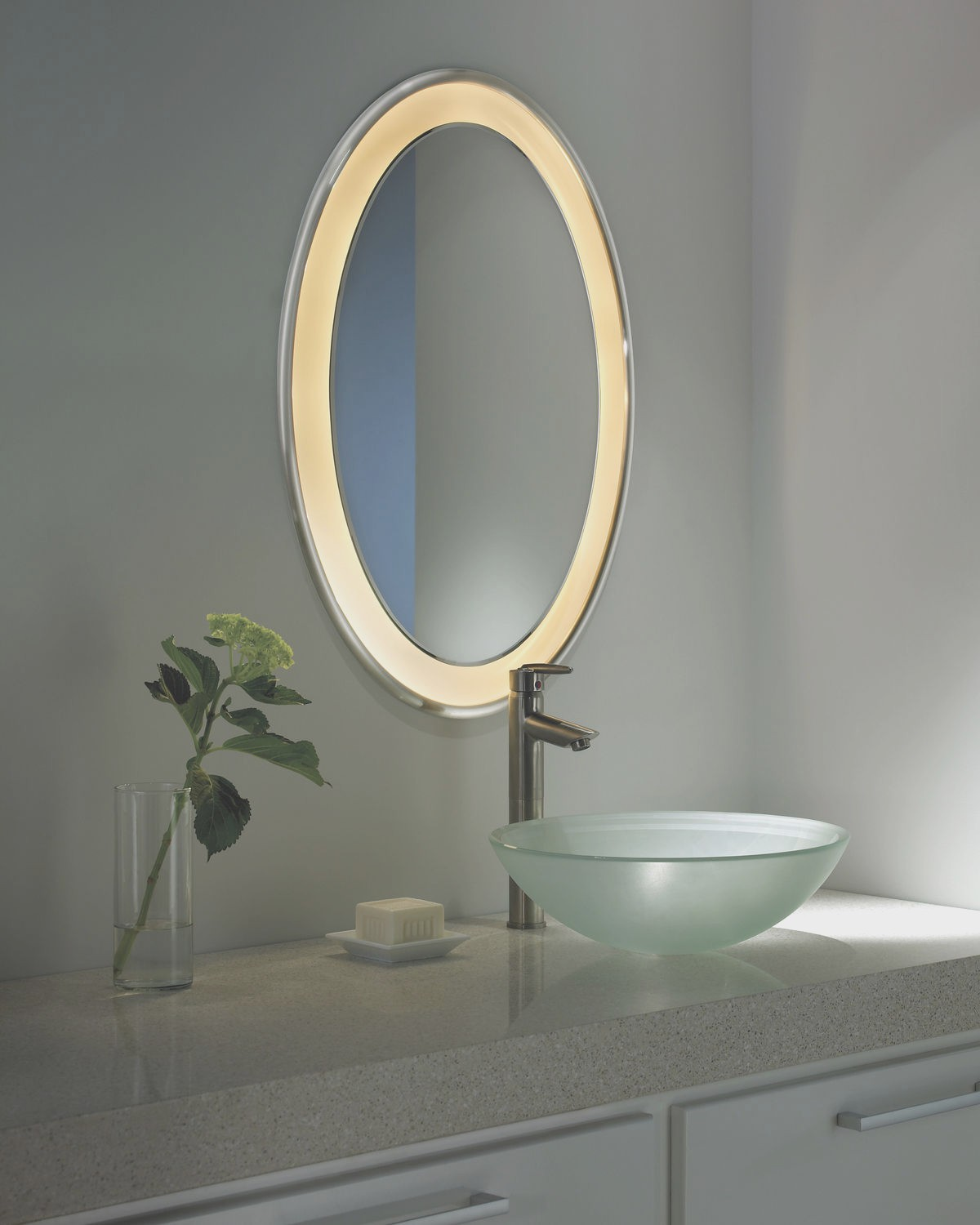 Lighted Bathroom Wall Mirror Large: Mirrors: Lighted Wall Mirror For Elegant Vanity Design